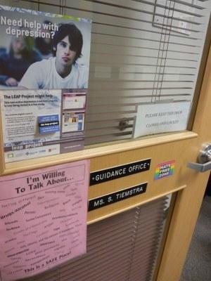Guidance office door